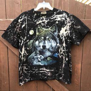 Wolf Pack Acid Wash T-Shirt
